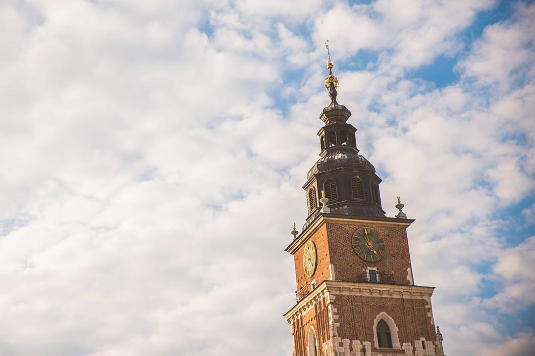 Town Hall Tower (Wieża ratuszowa) in Krakow's Main Square was built in the 13th century and obviously once included a Medieval torture chamber.