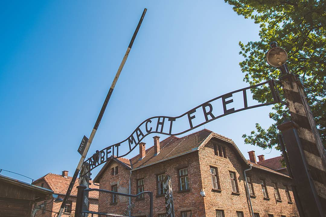 """The sign greeting you as you enter Auschwitz is chilling: """"Work Sets You Free""""."""