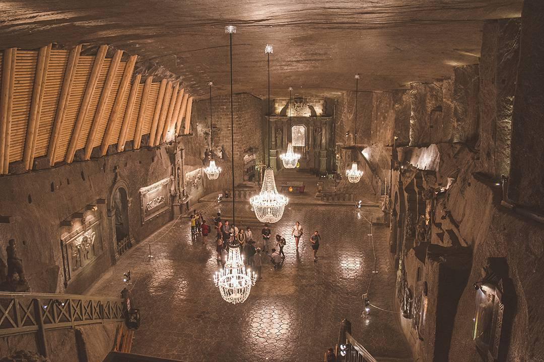St. Kinga's Chapel inside the Wieliczka Salt Mine holds mass every Sunday, 101 meters underground. You can also get married here and then have your honeymoon at the Wieliczka Health Resort, where you can escape the pollution of the street and breathe in the briny mine air while you sleep in separate beds. Romance!
