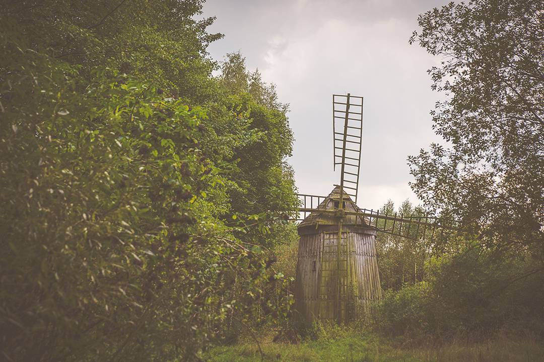 An old windmill on my boyfriend's family land in Nowa Sucha outside of Warsaw, Poland.