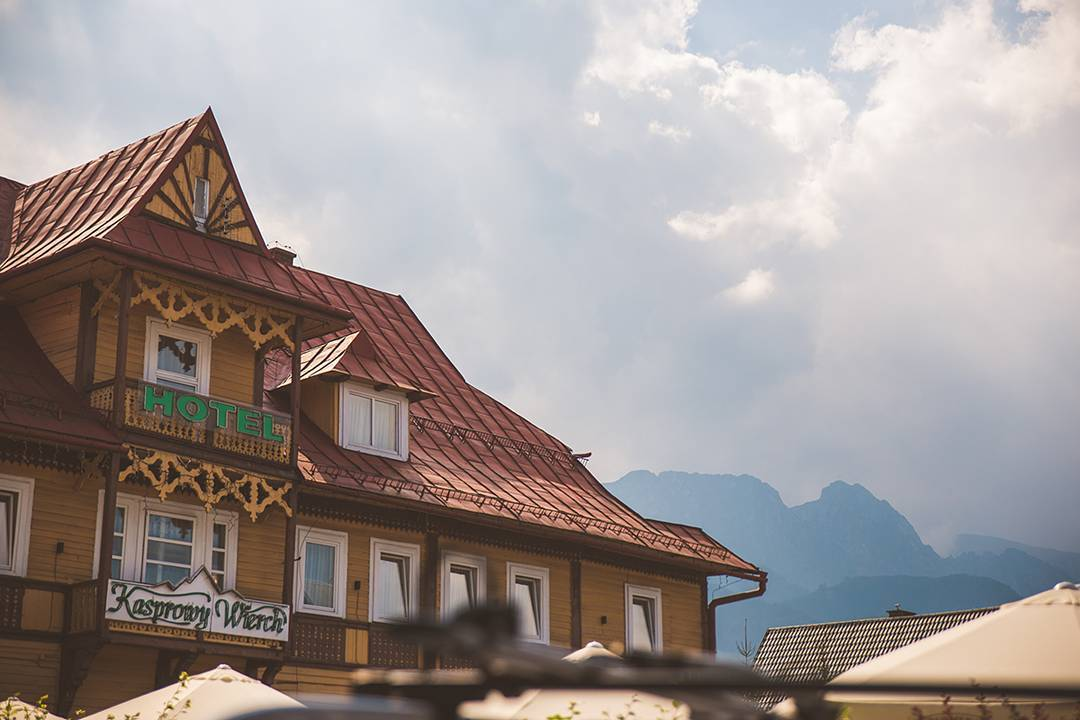 In the middle of our stay in Krakow, we drove two hours south to the Tatras Mountains town of Zakopane on the border of Slovakia. Behind this charming hotel, you'll see the chest and head of The Sleeping Knight, which Polish folklore says is lying in wait to protect Poland when needed.
