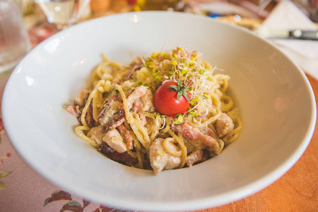 I tried to keep myself from showing you pictures of Italian food from Poland, but I can't resist this perfectly round, ripe little tomato on my fiancé's carbonara at Trattoria Adamo in Zakopane. I had a pizza with CORN on it here. One of the coolest things about being in this region was that my fiancé and his family could tell from the way people here talked that they were from the mountains. It's like being in NYC and talking to someone with a southern accent.
